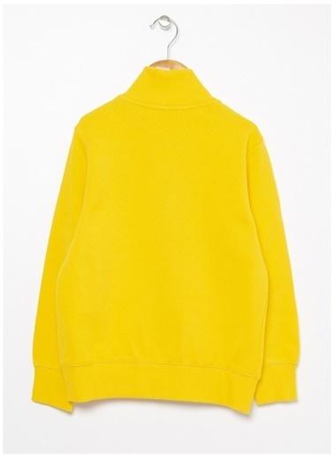 Benetton Benetton Logolu Sarı Erkek Çocuk Sweatshirt Sarı